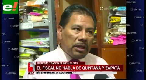 Fiscal a cargo de investigación evita hablar sobre Quintana y Zapata