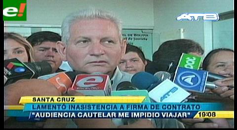 Costas no pudo asistir a firma de contrato del Mutún por audiencia cautelar