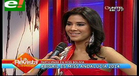 Abigail Saldías, se prepara para el Miss Bolivia 2014