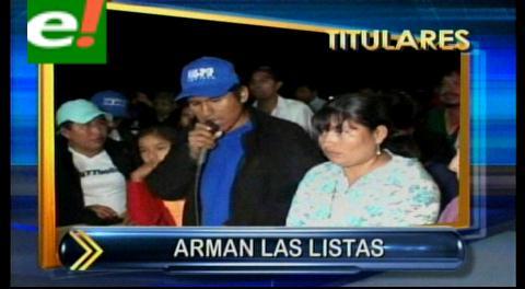 Titulares: El MAS comienza a elegir representantes uninominales