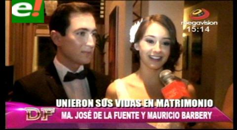 María José de la Fuente y Mauricio Barbery se casaron por lo civil