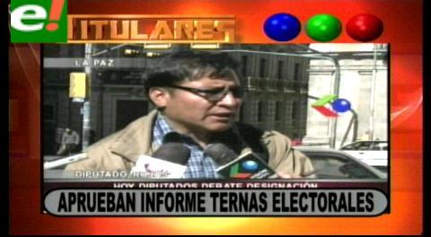 Titulares: Comisión de diputados aprueba informe de ternas electorales