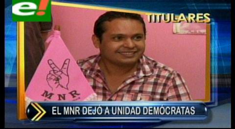 Titulares: MNR deja el Frente Amplio