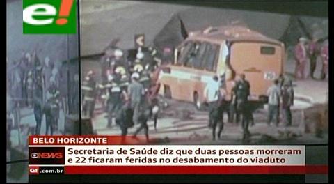Tragedia en el Mundial: Derrumbe de un puente en Brasil deja dos muertos y varios heridos