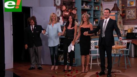 "Mónica, Rachel y Phoebe vuelven a ser ""Friends"" con Jimmy Kimmel"