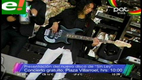 """Agrupación """"Sin Ley"""" presentará su nuevo disco"""