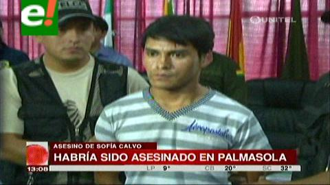 Habrían asesinado a quien mató a Sophia Calvo