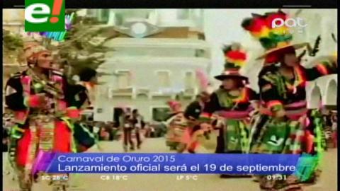 Oruro prepara gran promoción de su Carnaval 2015