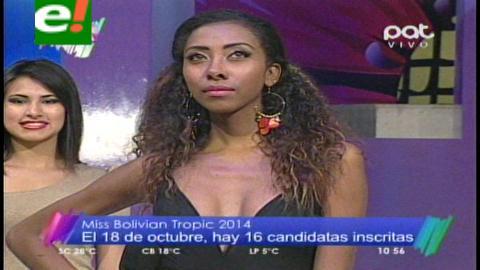 Miss Bolivian Tropic 2014 será el 18 de octubre