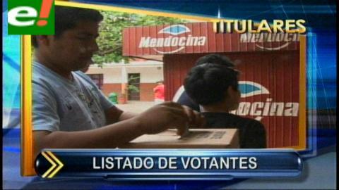 Titulares: Sereci entregará el padrón biométrico a los Tribunales Electorales