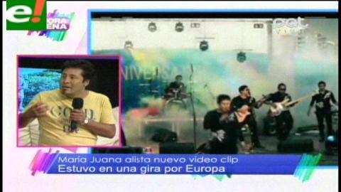 María Juana prepara videoclip, luego de su exitosa gira por Europa