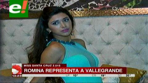 Romina Vargas quiere la corona de Miss Santa Cruz