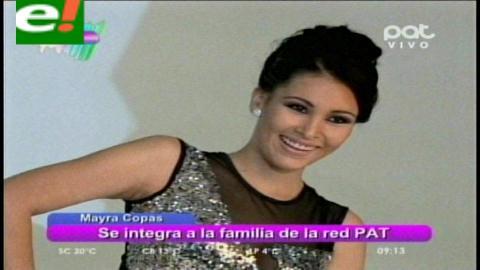 """Mayra Copas: """"Siempre fue mi sueño trabajar en la televisión"""""""