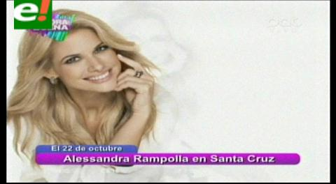 Alessandra Rampolla llegará a Santa Cruz para hablarte solo de sexo