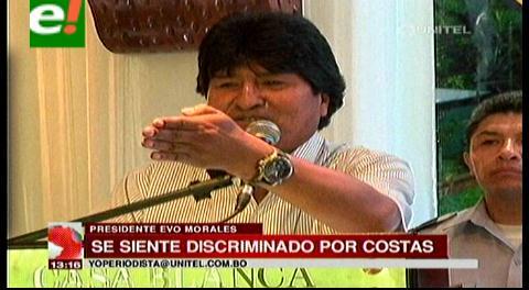 Evo Morales se siente discriminado por Rubén Costas