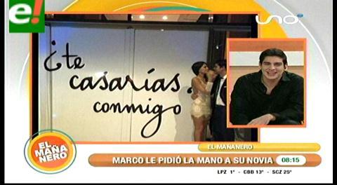 Marco Antelo le pidió matrimonio a Anabel Angus en una velada romántica