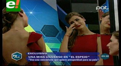Stefanía Fernández se emociona frente al espejo