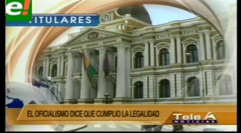 Titulares de TV: La oposición asegura que tenía razón al observar las irregularidades del procedimiento en la ley de reforma de la CPE