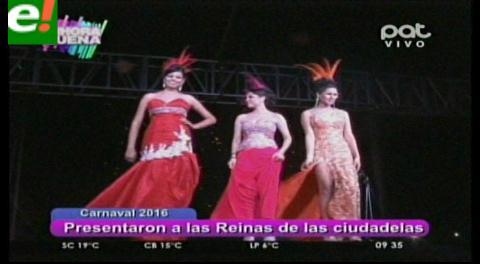 Las ciudadelas presentaron a sus soberanas del carnaval 2016