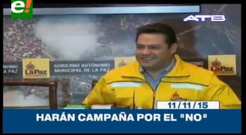 Titulares de TV: Gobernador y alcalde de La Paz harán campaña por el No