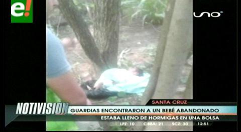Encuentran bebé abandonado en una bolsa negra