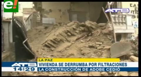 La Paz. Filtraciones causan el derrumbe de una vivienda en Sopocachi