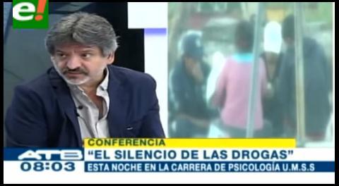 """Experto visita Bolivia y aborda problema de la adicción en libro """"El silencio de las drogas"""""""