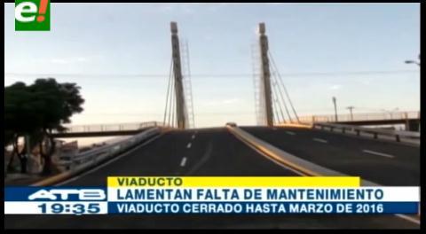 Cochabamba. Viaducto será cerrado hasta marzo del 2016