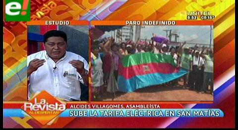 Pobladores de San Matías en paro cívico indefinido
