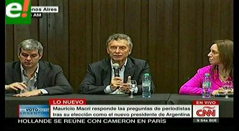 Macri apunta a Venezuela en su primera conferencia de prensa; invocará claúsula democrática en Mercosur
