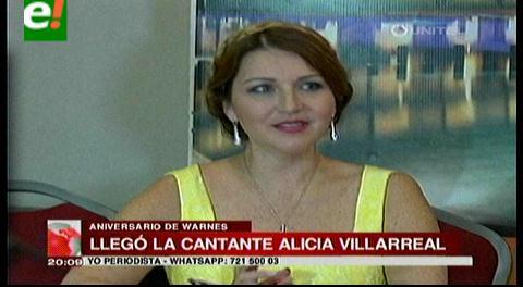 Alicia Villlarreal le cantará a Warnes