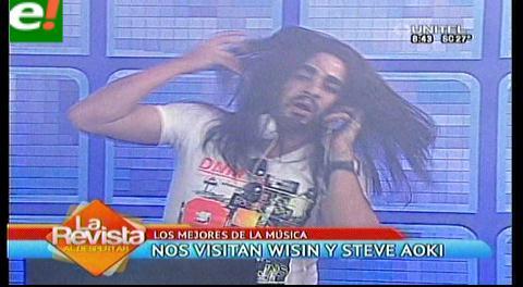 """Steve Aoki"" y ""Wisin"" armaron la previa del Tigo Music Fest"
