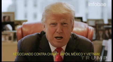 Donald Trump volvió a atacar a México en un spot de campaña: «Nos están estafando»