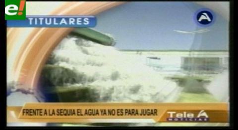 Titulares de TV: Gobierno emite Resolución que prohíbe el derroche de agua potable en carnavales