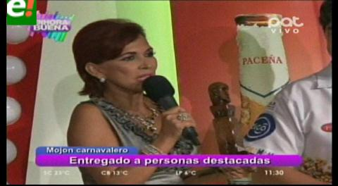 """Personalidades cruceñas fueron reconocidas con el """"Mojón Carnavalero"""""""