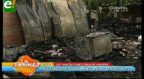 Incendio consume una casa en el Plan Tres Mil