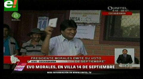 El presidente Evo Morales votó en El Chapare