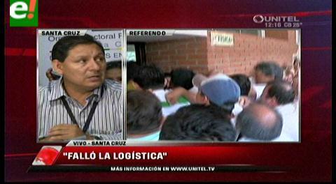 Tras percances, Tribunal Electoral de Santa Cruz explica medida de excepción