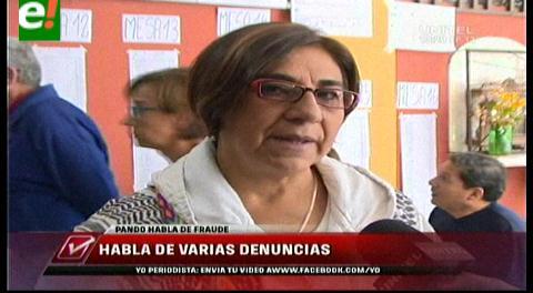 Amalia Pando: Guión del Gobierno/MAS es anular votos con cualquier recurso