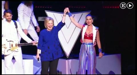 Elton John y Katy Perry hacen campaña para Hillary Clinton
