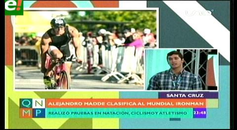 Boliviano Alejandro Madde gana triatlón Ironman y clasifica para el mundial