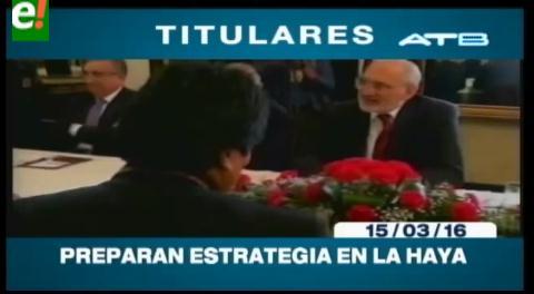 Titulares de TV: Equipo jurídico de Bolivia analiza posibles argumentos que serían expuestos por Chile en su contramemoria