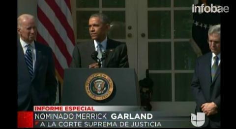 Barack Obama nominó a Merrick Garland como nuevo juez de la Corte Suprema de los EEUU