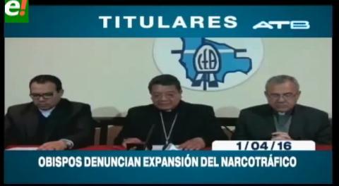 Titulares de TV: Obispos denuncian expansión del narcotráfico