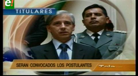 Titulares de TV: Vicepresidente anuncia elección de nuevo Contralor General