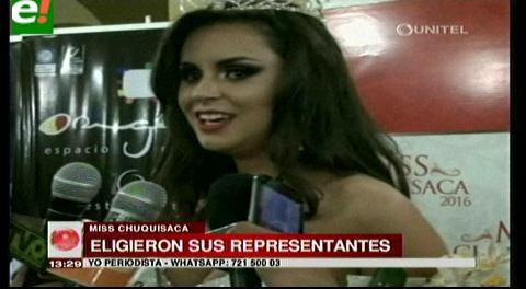 """Miss Chuquisaca 2016: """"La humildad te abre grandes puertas"""""""