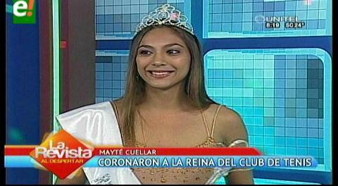 Mayté Cuéllar coronada reina del Club de Tenis Santa Cruz