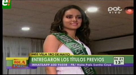 Entregaron títulos previos del Miss Villa Primero de Mayo