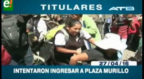 Titulares de TV: Discapacitados fueron gasificados por la Policía