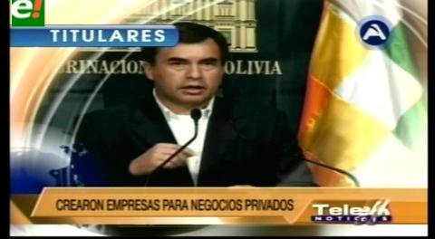 Titulares de TV: Quintana denuncia que Zapata y Choque lideran organización criminal con ex funcionarios gubernamentales